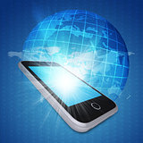 Smartphone and globe