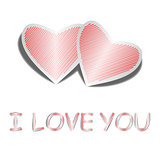 "Design heart background with words ""I love you"""