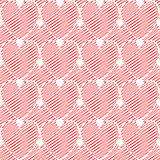 Design seamless colorful doodle heart pattern. Valentine's Day b