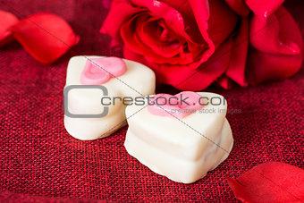 small heart chocolates