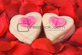 small heart chocolates
