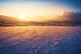 Sunset winter landscape