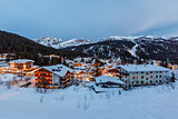 Illuminated Ski Resort of Madonna di Campiglio in the Evening, I