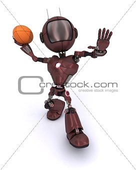3D Render of an android playing American Football