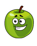 Happy smiling healthy green apple