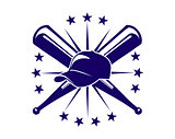 Baseball icon or emblem