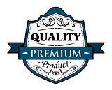 Quality premium product badge