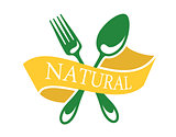Restaurant icon depicting natural food
