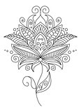 Pretty ornate delicate floral design element