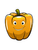 Smiling orange cartoon pepper