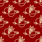 Repeat floral pattern in a seamless design