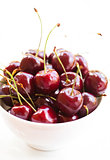 Fresh red cherries