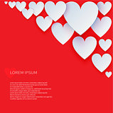 Valentines Day abstract vector background