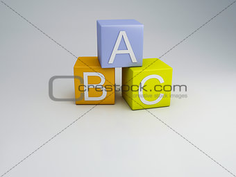 Blocks ABC letters