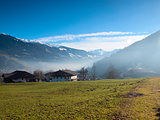 Small Austrian village in the Hochzillertal area in Tirol