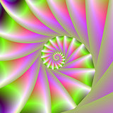 Pink and Green Spiral