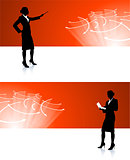 businesswoman corporate banner backgrounds