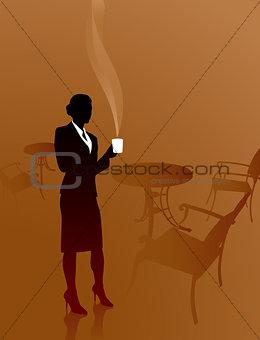 Business woman on coffee break