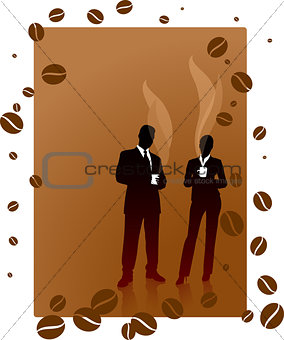 Business People Vectocr & Coffee