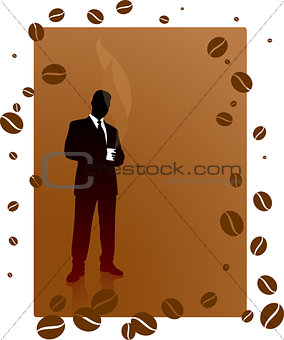 Business man on a coffee break