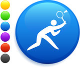 badminton icon on round internet button