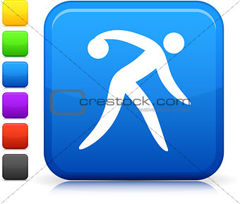 bowling icon on square internet button
