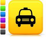 taxi cab icon on square internet button