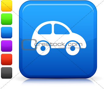 car icon on square internet button