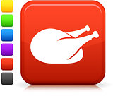 chicken icon on square internet button