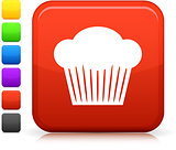 cupcake icon on square internet button
