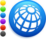 globe icon on round internet button