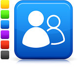 online groups icon on square internet button