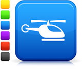 helicopter icon on square internet button