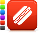 hot dog icon on square internet button