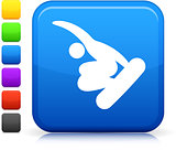 snowboarding (skateboarding) icon on square internet button