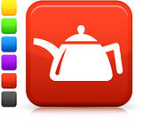 teapot icon on square internet button
