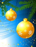 Holiday background with Christmas Ornament and tree