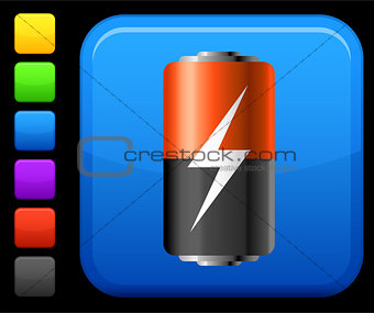 battery icon on square internet button