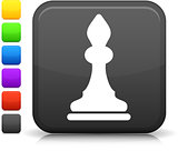 chess bishop icon on square internet button