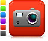 photo camera icon on square internet button