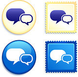 Internet Chat Stamp and Button