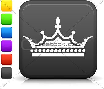 crown icon on square internet button