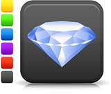 diamond icon on square internet button