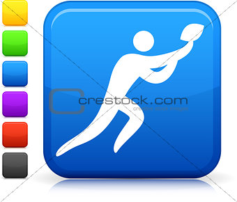 football icon on square internet button