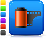 photo film icon on square internet button