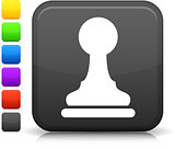 chess pawn icon on square internet button