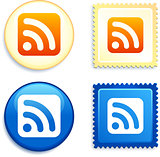 RSS on Stamp and Button