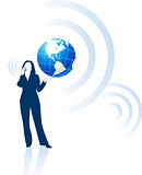 businesswoman global communication