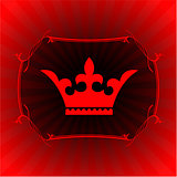 Ornate crown on glowing background