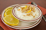 Greek yogurt with lemons